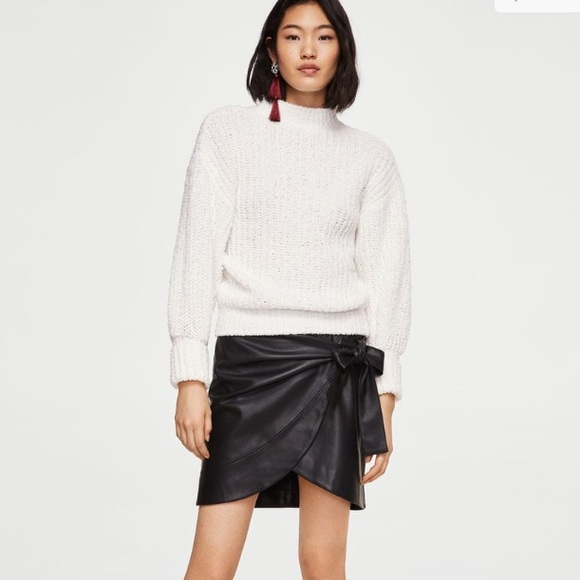 5b9fede3cd1 Mango Skirts | Black Leather Mini Skirt | Poshmark